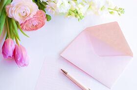 バラと手紙